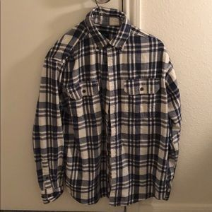 Blue & White Flannel